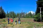 Arco Iris families take an afternoon hike from Mazama Lodge in 2011