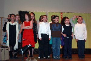 Our 5th and 6th graders sing in Tuesday's performance