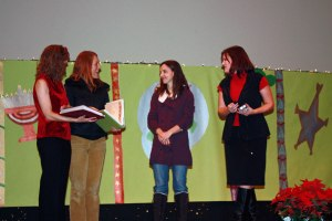 Mary Taylor and Danielle Siver receive letters of appreciation written by our students